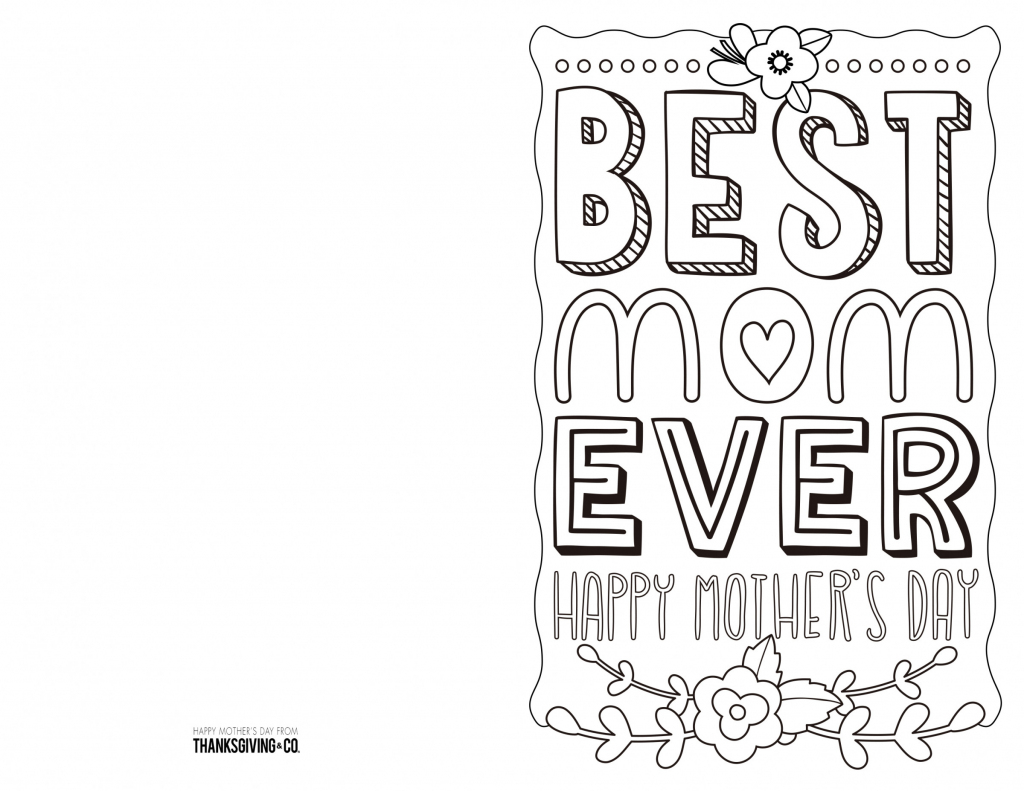 4 Free Printable Mother's Day Ecards To Color - Thanksgiving | Free Printable Mothers Day Cards