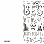 4 Free Printable Mother's Day Ecards To Color   Thanksgiving | Printable Mom's Day Cards