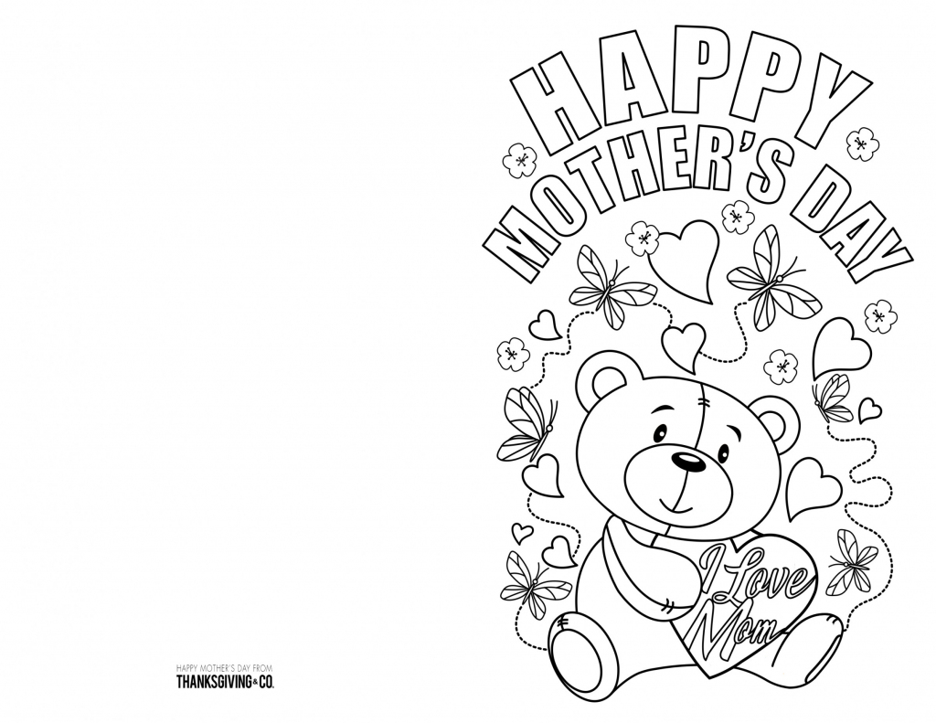 4 Free Printable Mother's Day Ecards To Color - Thanksgiving   Printable Mothers Day Cards To Color