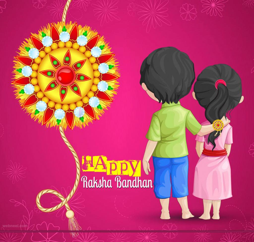 40 Beautiful Raksha Bandhan Greetings Cards And Wallpapers | Raksha Bandhan Greeting Cards Printable