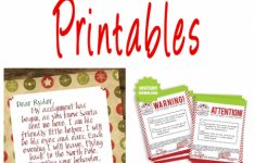 Elf On A Shelf Printable Cards