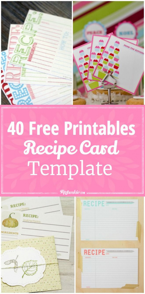 40 Recipe Card Template And Free Printables | Printables | Recipe | Homemade Card Templates Printable
