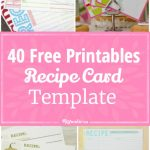 40 Recipe Card Template And Free Printables – Tip Junkie | Free Printable Recipe Cards