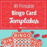 49 Printable Bingo Card Templates | Monthly Ministry Ideas | Bingo | Free Printable Bingo Cards Random Numbers