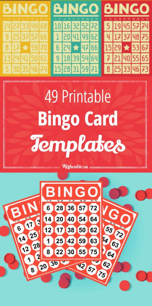 49 Printable Bingo Card Templates – Tip Junkie | Free Printable Number Bingo Cards 1 20
