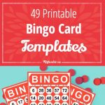 49 Printable Bingo Card Templates – Tip Junkie | Printable Number Bingo Cards