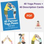 5 Easy Partner Yoga Poses For Kids (Printable Poster | Children's | Printable Yoga Cards For Kids