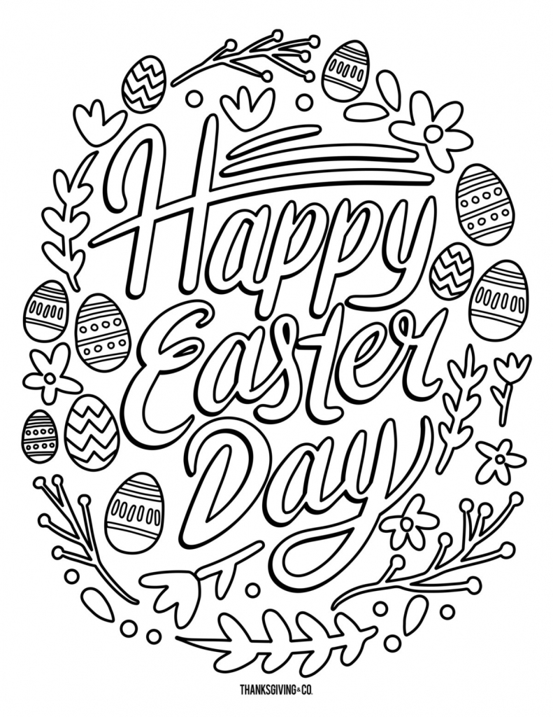 5 Free Printable Easter Coloring Pages For Adults That Will Relieve | Free Printable Coloring Cards For Adults