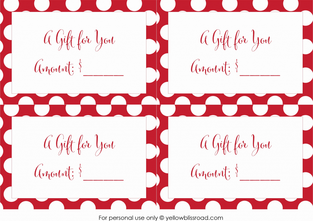 50 Free Gift Certificates To Print | Ufreeonline Template | Free Printable Gift Cards
