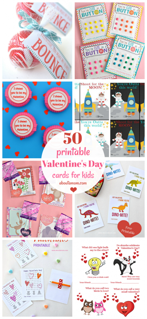 50 Free Printable Valentine's Day Cards | Free Printable Valentines Day Cards Kids