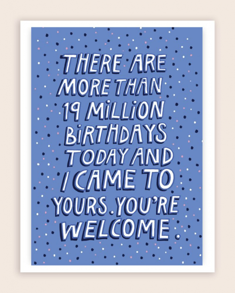 50 Funny Birthday Card Ideas – Learn | Nerdy Birthday Cards Printable