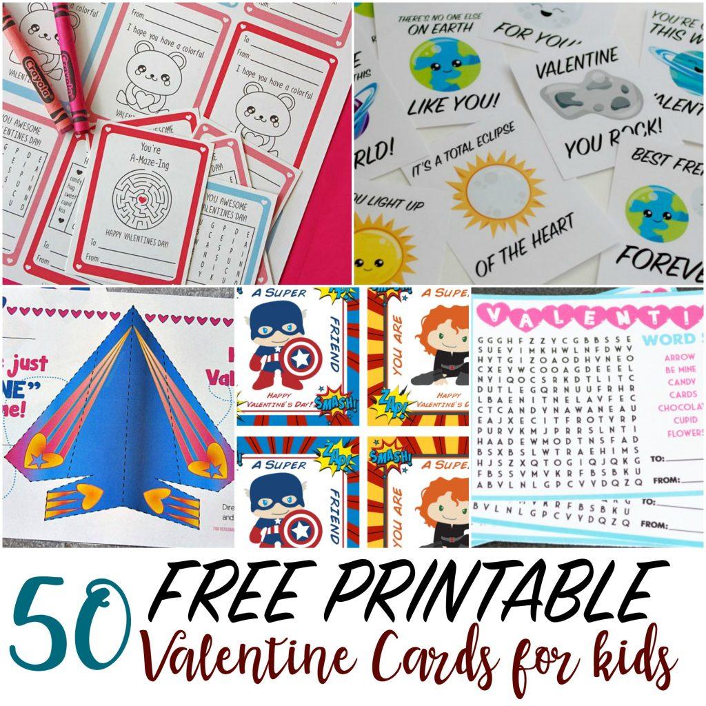 50 Printable Valentine Cards For Kids | Free Printable Valentine Cards For Kids