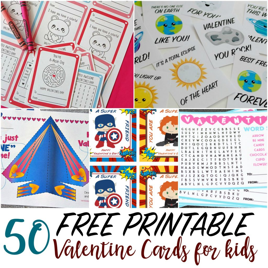50 Printable Valentine Cards For Kids | Printable Valentine Cards For Kids