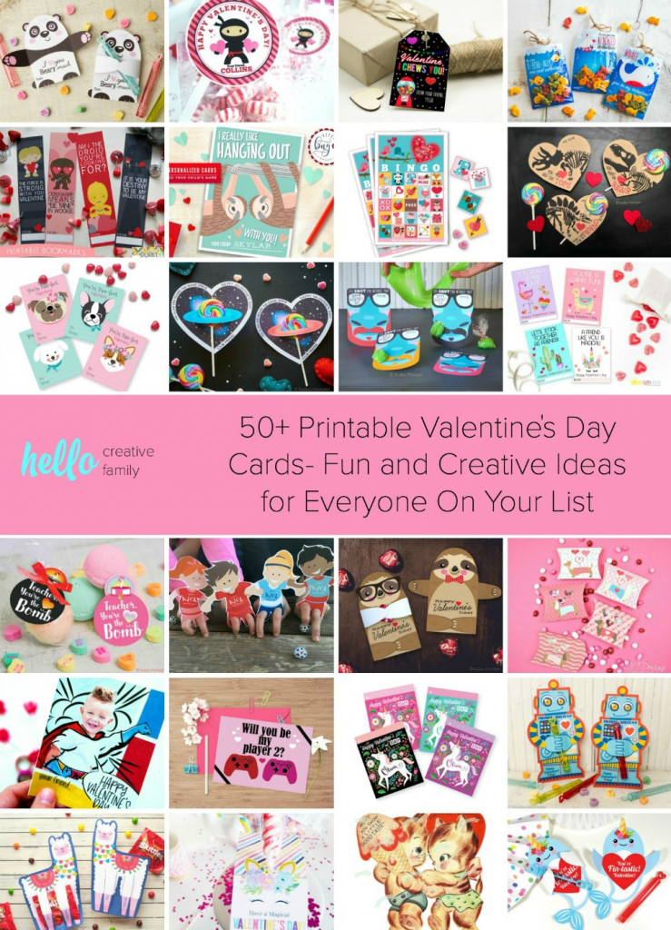 50+ Printable Valentines Day Cards- Fun And Creative Ideas For | Valentine's Day Card Ideas Printables