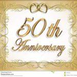 50Th Wedding Anniversary Card Stock Illustration   Illustration Of | Free Printable 50Th Anniversary Cards