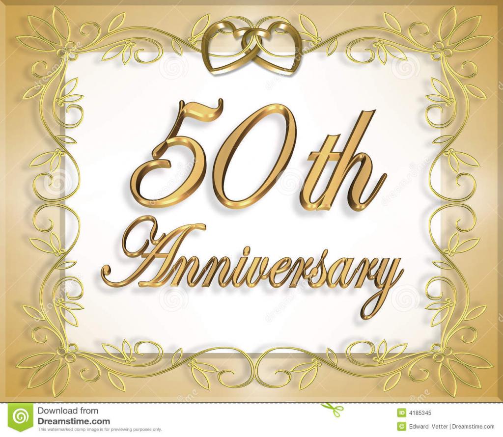 50Th Wedding Anniversary Card Stock Illustration - Illustration Of | Free Printable 50Th Anniversary Cards