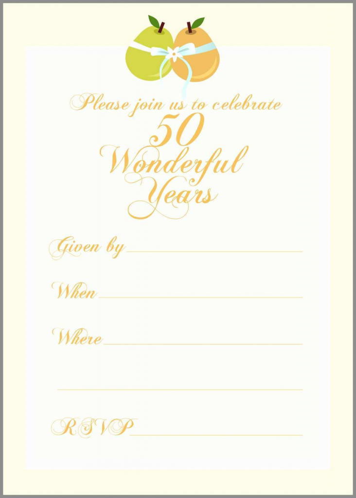 50Th Wedding Anniversary Cards Free Printable - Canas.bergdorfbib.co | Free Printable 50Th Anniversary Cards