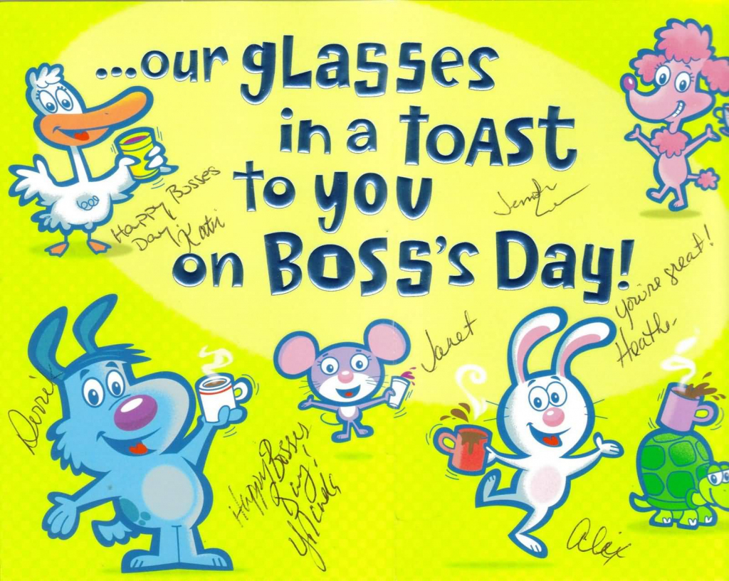 55+ Latest Boss Day Wish Pictures And Photos | Boss Day Cards Free Printable
