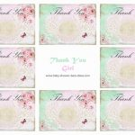 6 Best Images Of Printable Baby Shower Thank You Baby Steam Shower | Free Printable Baby Shower Thank You Cards