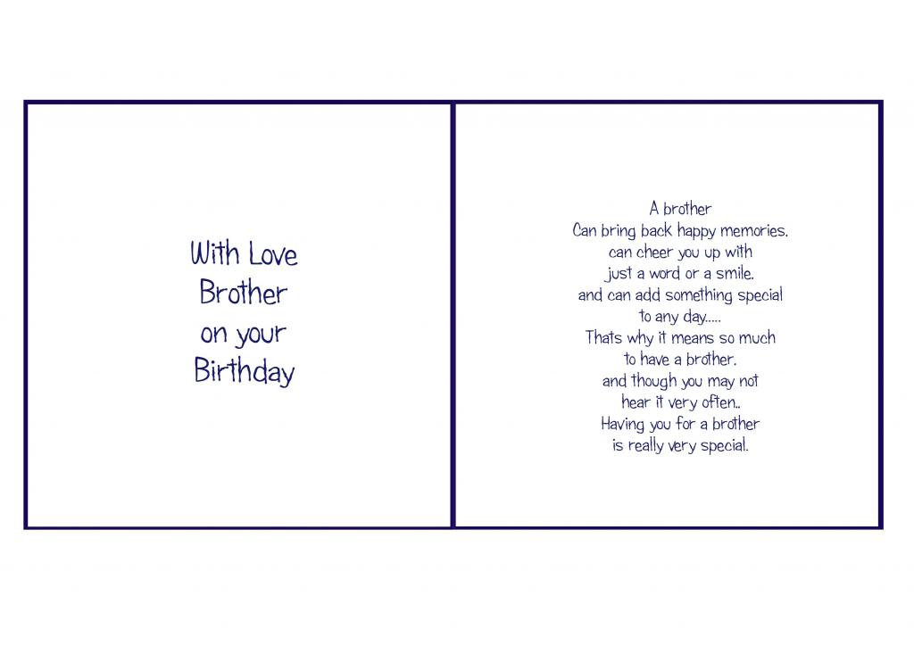 6X6 Brother Birthday | Card Verses | Christmas Card Verses | Free Printable Birthday Cards For Brother
