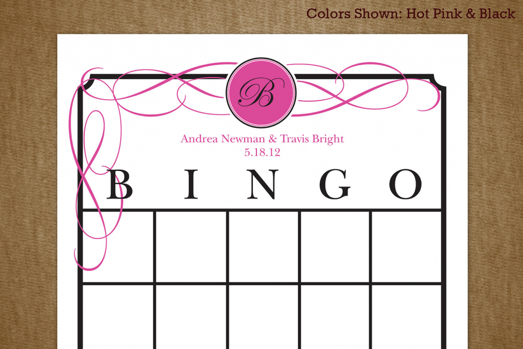 7 Best Images Of Printable Bridal Bingo Cards Free Pink Floral | Free Printable Bridal Shower Cards