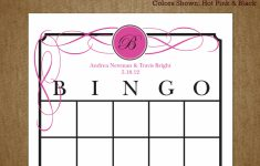 Printable Blank Bridal Shower Bingo Cards