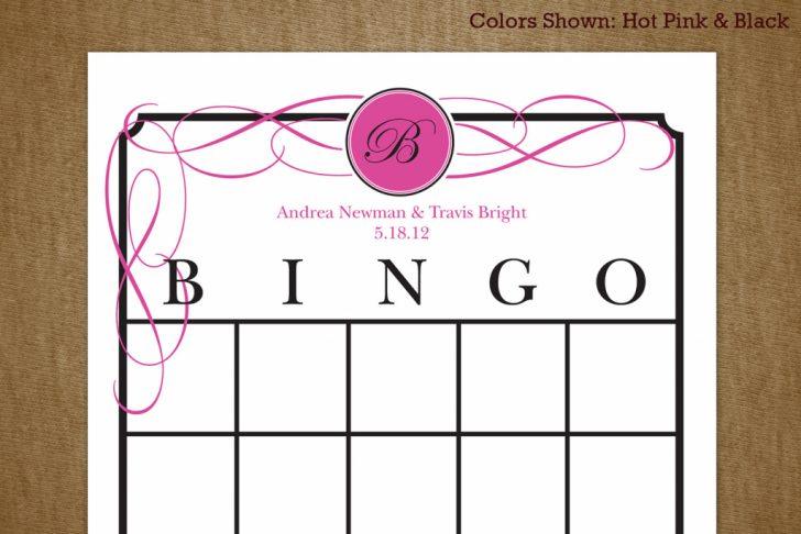 Printable Blank Bridal Shower Bingo Cards