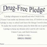 7 Best Photos Of Drug Free Pledge Printable   Drug Free Pledge Red | Free Printable Drug Free Pledge Cards
