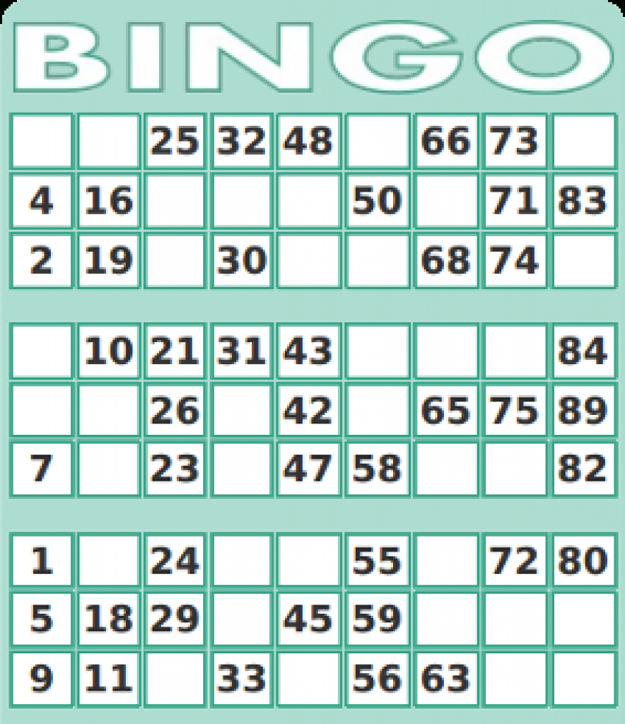 75 Number Bingo Card Generator | Print - 2019-02-08 | Printable Number Bingo Cards 1 75