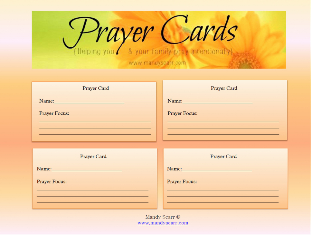 8 Best Of Free Printable Memorial Prayer Cards – Example Templates | Free Printable Prayer Cards