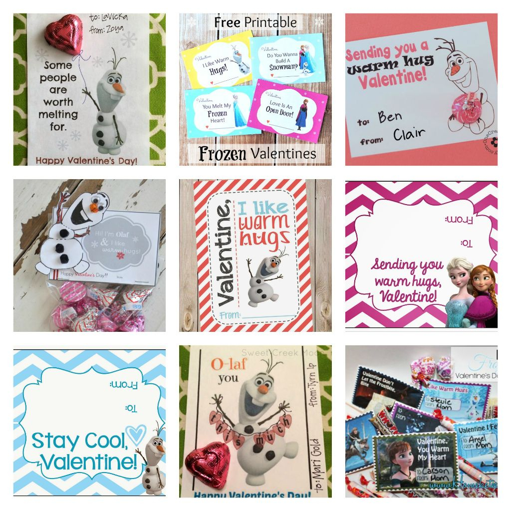8 Free Frozen Valentines Day Printable Cards - Domestic Mommyhood | Frozen Valentine Cards Printable