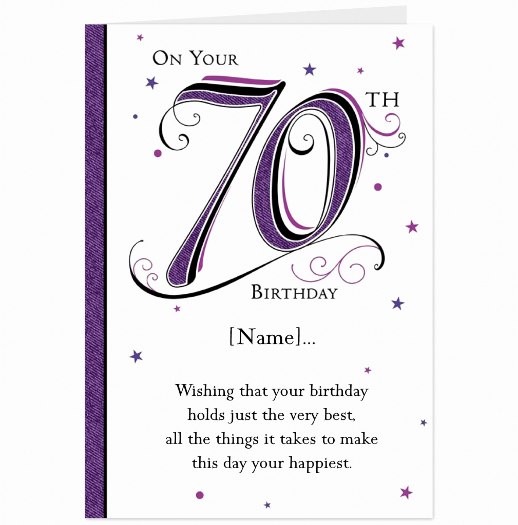 85+ 70Th Birthday Ecards - Happy 70Th Birthday Card, Special Cards 3 | Printable Funny 70Th Birthday Cards