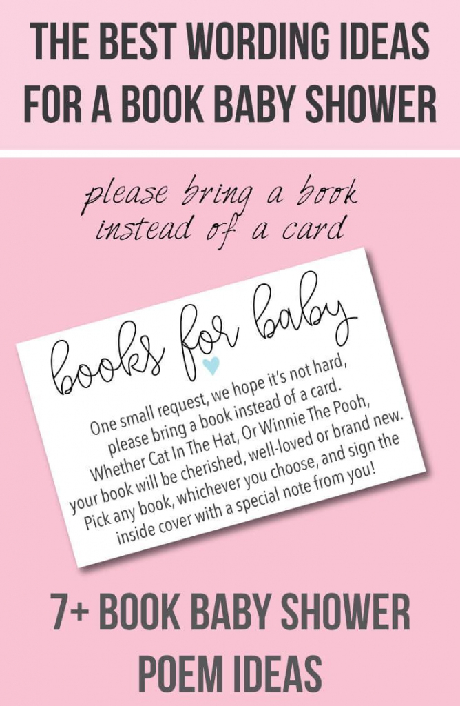 "9 ""bring A Book Instead Of A Card"" Baby Shower Invitation Ideas In 