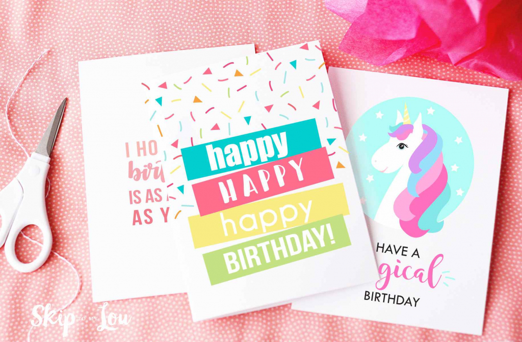 9 Free, Printable Birthday Cards For Everyone | Create Greeting Cards Online Free Printable