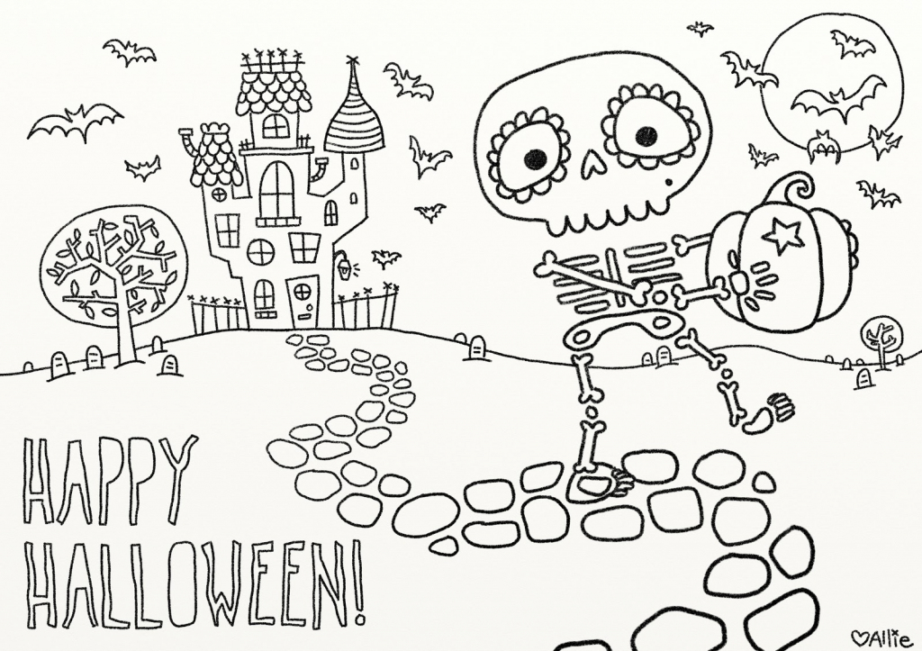 9 Fun Free Printable Halloween Coloring Pages - Printable Halloween | Printable Halloween Cards To Color For Free