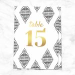 9 Printable Table Numbers To Add Elegance To Your Centerpiece   Printable Table Number Cards