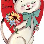 9 Retro Valentines With Animals!   The Graphics Fairy | Printable Vintage Valentines Day Cards
