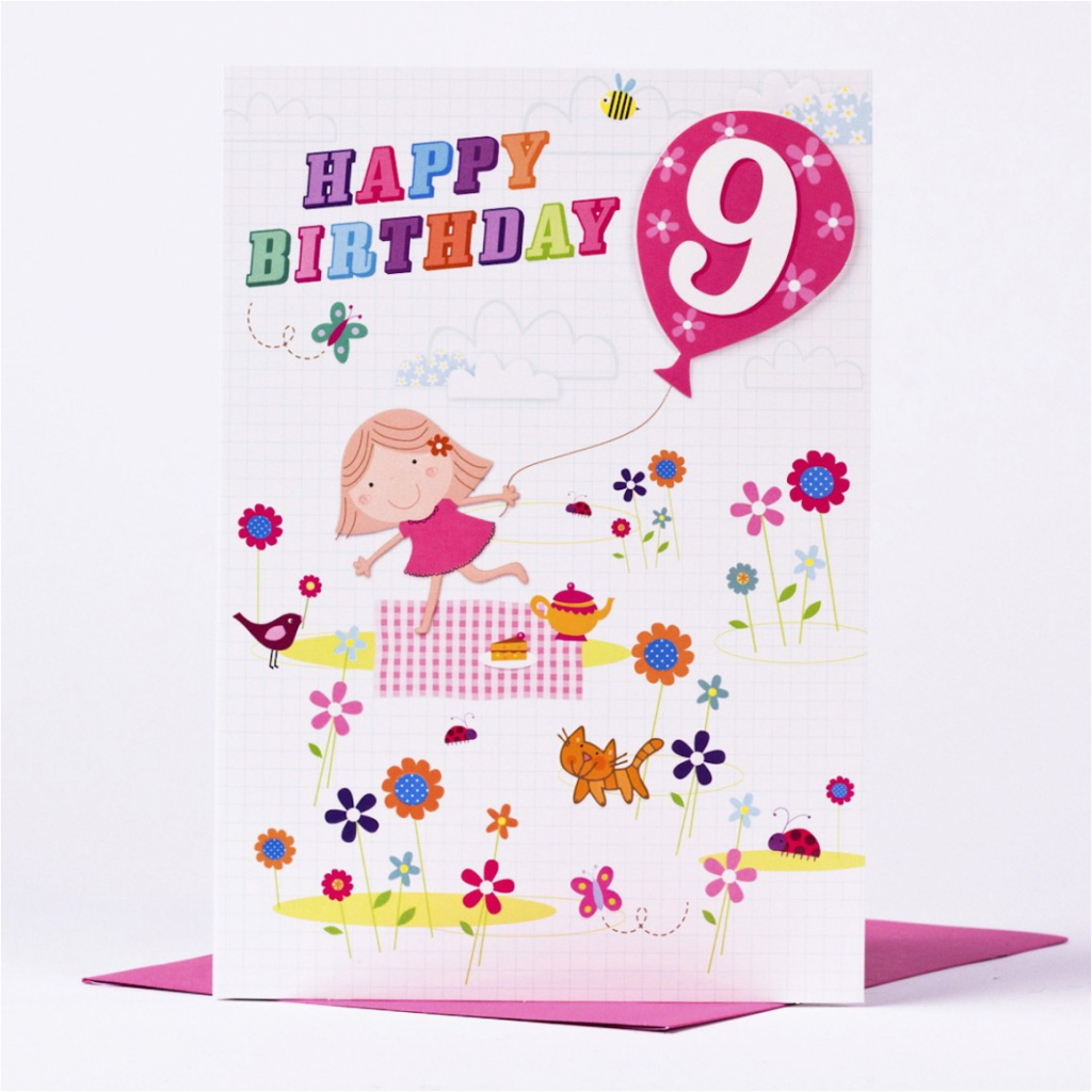 96+ Birthday Cards For 9 Year Old - 9Th Birthday Card 9 Year Old Age | 9Th Birthday Cards Printable