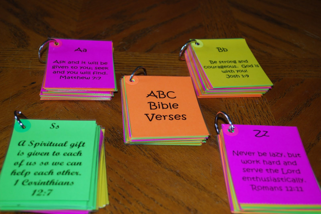 A Day In The Life Of This Mom: Abc Bible Verse Flash Cards | Bible Book Flash Cards Printable