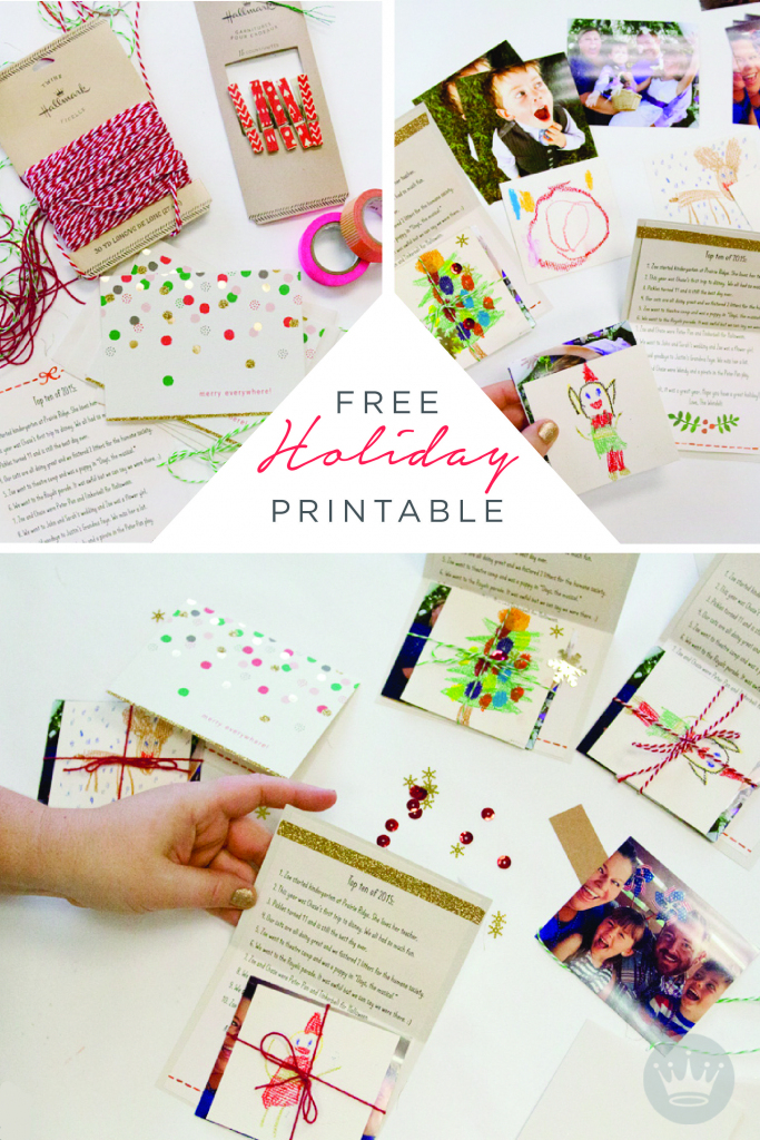A Free Holiday Letter Printable To Dress Up Your Card-Sending | Home | Free Hallmark Christmas Cards Printable