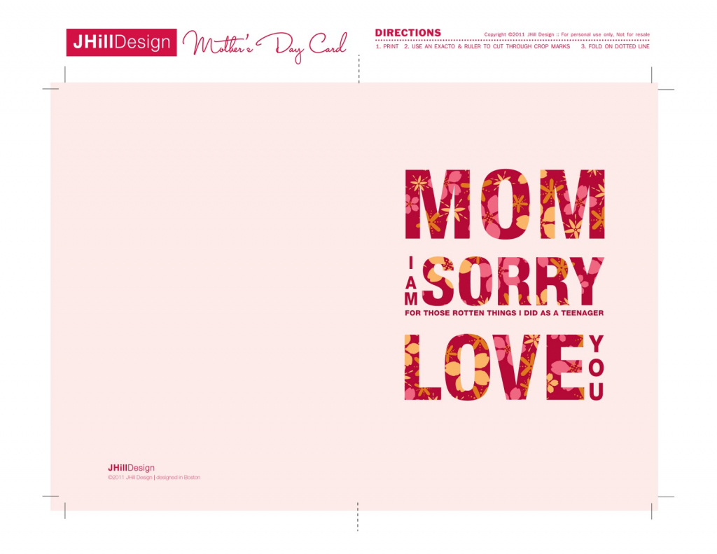 A New Mrs.: Free Printable Mother's Day Cards! | Free Printable Mothers Day Cards To My Wife