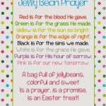 A Pocket Full Of Lds Prints: Jelly Bean Prayer Poem   Easter Freebie | Jelly Bean Prayer Printable Cards