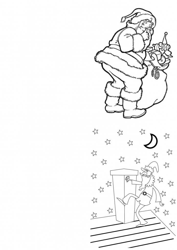 A Range Of Free Printable Christmas Cards Designs For Children To | Free Printable Christmas Cards To Color