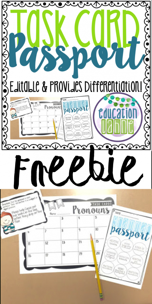 A Resource At Your Fingertips! | Miss Chandler's Class | Reading | Free Printable Blank Task Cards