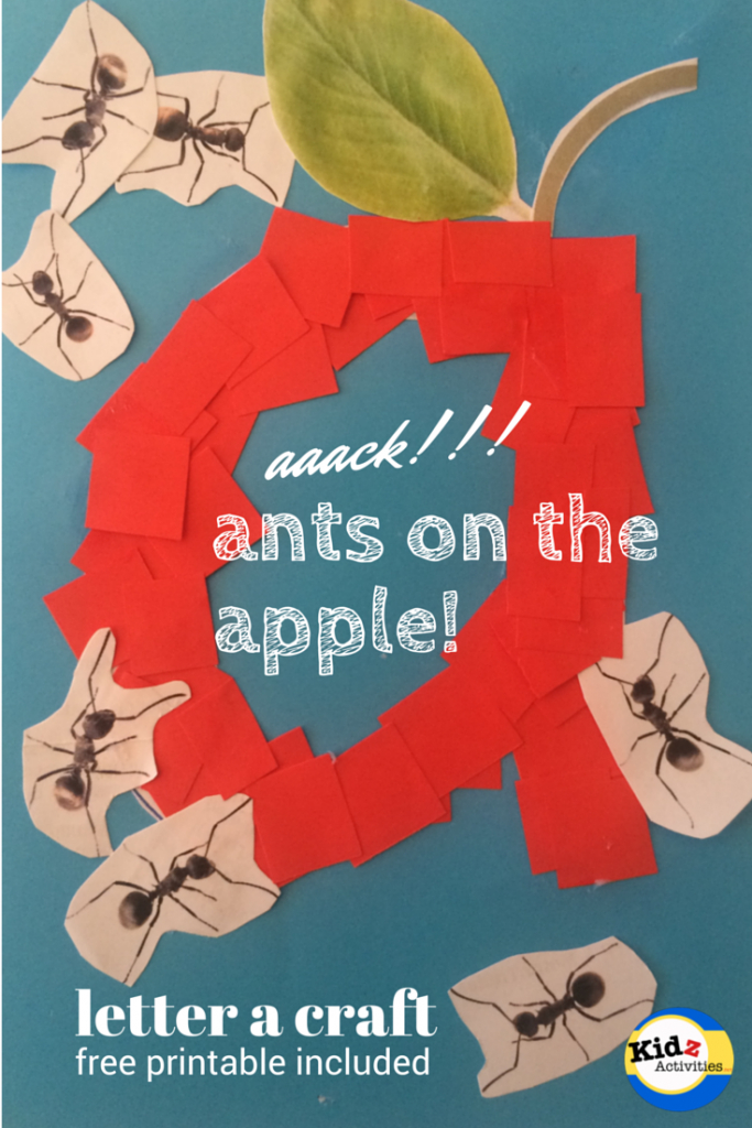 Aaack!!! Ants On The Apple! - Letter A Craftkidz Activities | Ants On The Apple Printable Cards