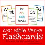 Abc Bible Verse Flashcard Printables ~ Teaching God's Word | Bible Book Flash Cards Printable