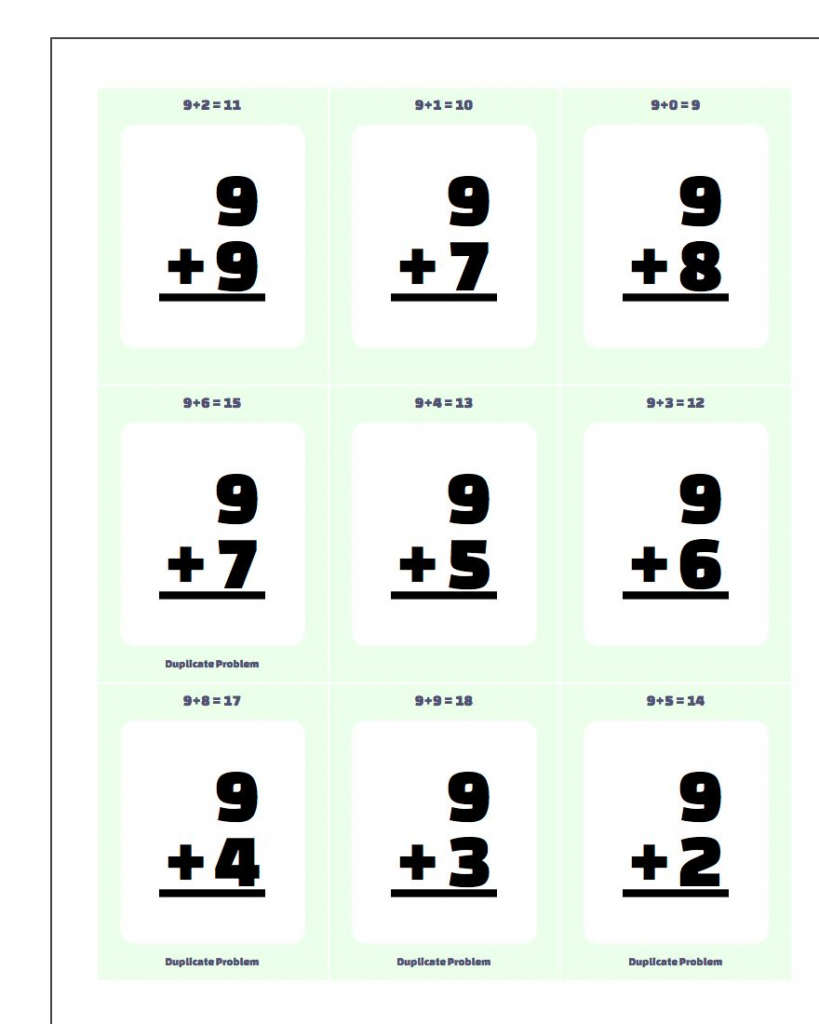 Addition Flash Cards | Free Printable Addition Flash Cards