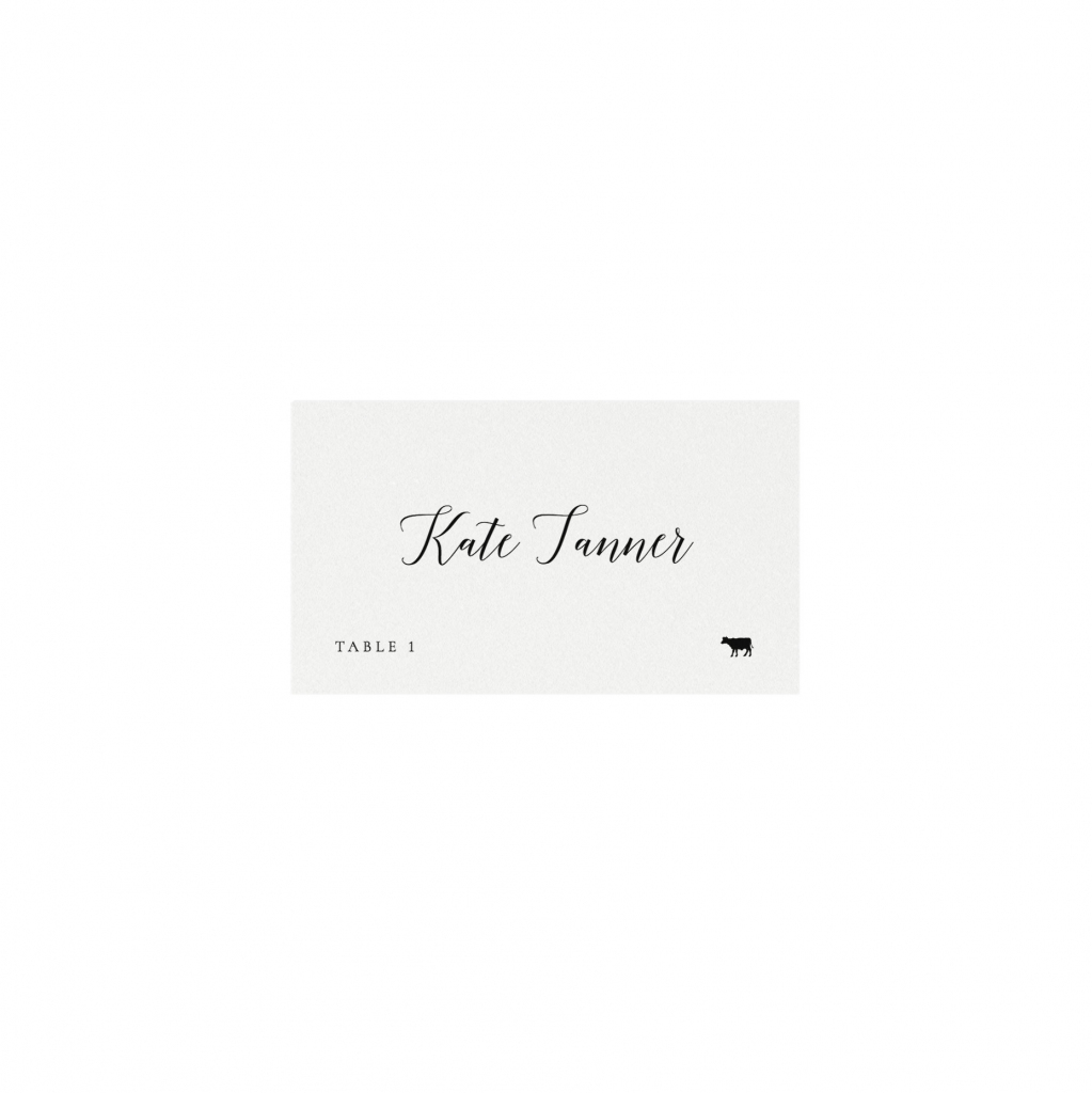 This is a graphic of Sweet Avery Printable Place Cards