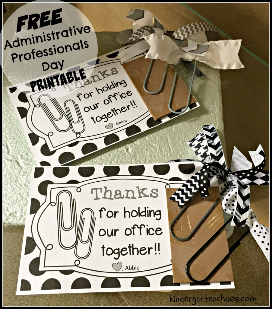Administrative Professionals Day | Appreciation Gift Ideas | Boss Day Cards Free Printable