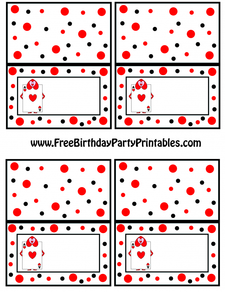 Alice In Wonderland Card Soldiers Printable Cutout | Free Printable Tent Cards Templates